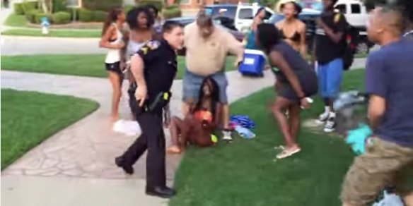 pool party cop